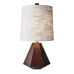 Gretel Walnut Modern Table Lamp