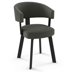 Grissom Modern Dining Chair by Amisco in Black Coral + Volcano