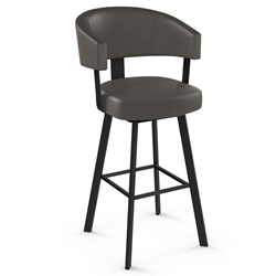 Grissom Modern Bar Stool by Amisco in Black Coral + Cemento