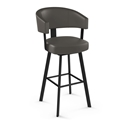 Grissom Modern Counter Stool by Amisco in Black Coral + Cemento