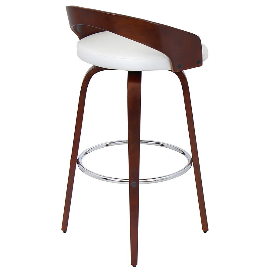 ... Grove Modern Cherry Bar Stool ...  sc 1 st  Eurway & Grove Modern Cherry + White Bar Stool | Eurway Modern islam-shia.org
