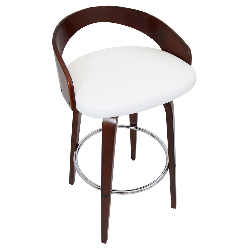 Grove Modern Cherry   White Bar Stool | Eurway Modern for bar chair top view  589ifm