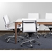 Gunar White Low Back Modern Office Chairs by Euro Style