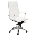 Gunar Pro High Back Office Chair in White by Euro Style