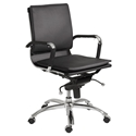 Gunar Pro Low Back Office Chair in Black by Euro Style