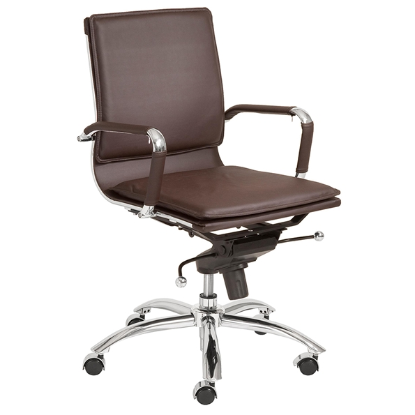 Gunar Pro Low Back Office Chair in Brown by Euro Style