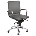 Gunar Pro Low Back Office Chair in Gray by Euro Style