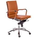 Gunar Modern Cognac Low Back Office Chair