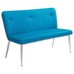 Hadrien Blue Modern Bench