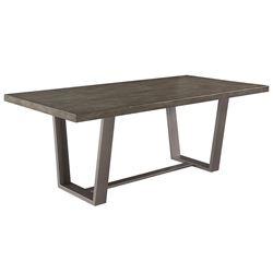 Hagar Modern Dining Table w/ Composite Concrete Top