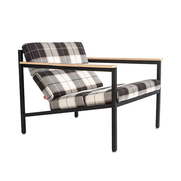 Halifax Contemporary Lounge Chair in Tartan Shadow by Gus* Modern