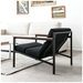 Halifax Contemporary Lounge Chair in Laurentian Onyx - Lifestyle