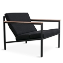 Halifax Contemporary Lounge Chair in Laurentian Onyx