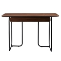Halle Modern Walnut 48 inch Desk by Euro Style