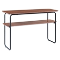 Halle Modern Walnut Console Table by Euro Style