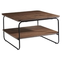 Halle Modern Square Walnut Coffee Table by Euro Style