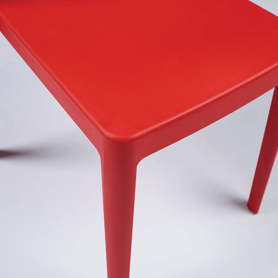 halliday red modern stacking chair  eurway furniture -  halliday red contemporary stacking dining chair detail
