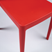 Hemmingway Red Contemporary Stacking Dining Chair Detail