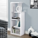 Hamilton Contemporary Staggered White Shelf