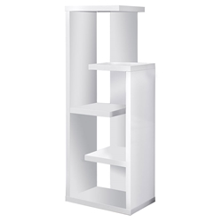 Hamilton Modern White Staggered Shelf