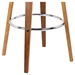 Hampton Modern Walnut + Cream Bar Stool - Base Detail