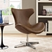 Hampton Contemporary Brown Lounge Chair