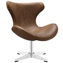 Hampton Modern Brown Lounge Chair