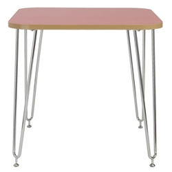 Hannah Red Modern Activity and Work Table