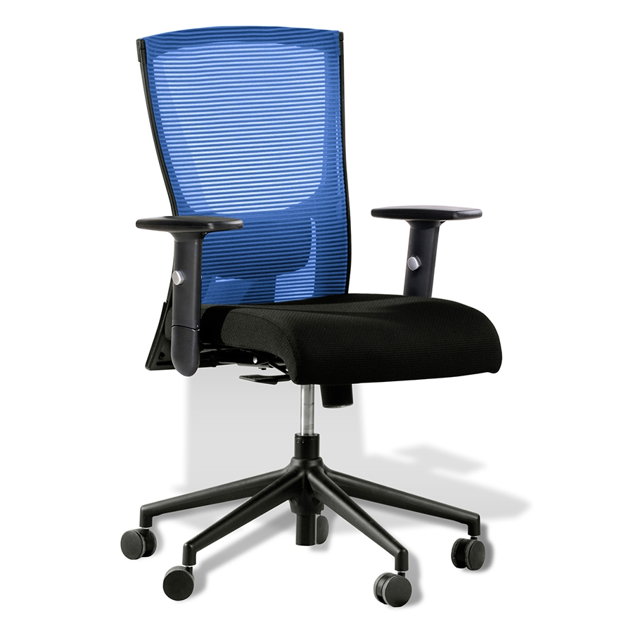 Modern office chairs hanna blue office chair eurway for Blue office chair