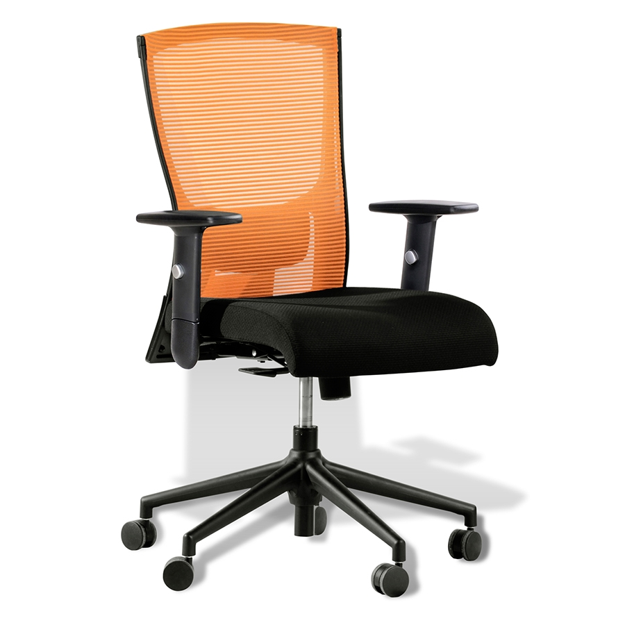 Modern Office Chairs Hanna Orange Office Chair Eurway