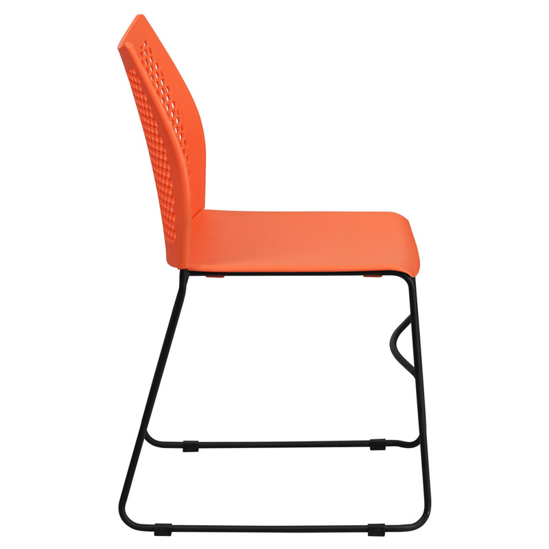 Lovely ... Hanna Modern Stacking Guest Chair In Orange   Side View ...