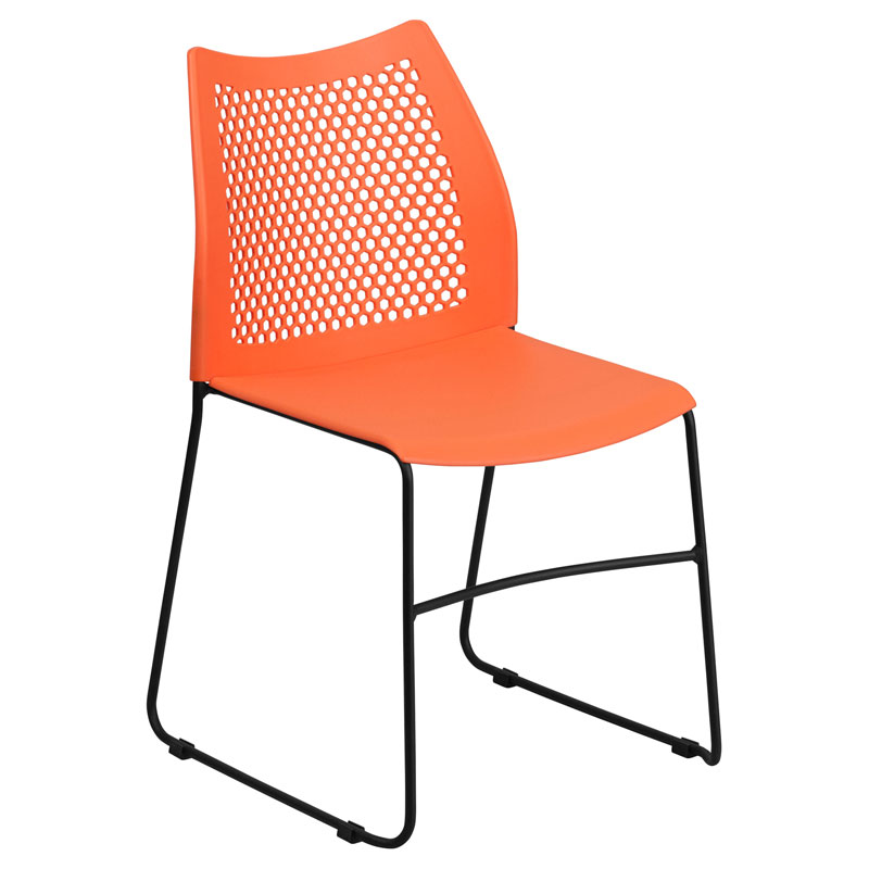Hanna Modern Stacking Guest Chair in Orange