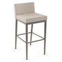 Hanson Modern Bar Stool by Amisco in Titanium + Oyster