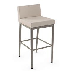 Hanson  Modern Counter Stool by Amisco in Titanium + Oyster