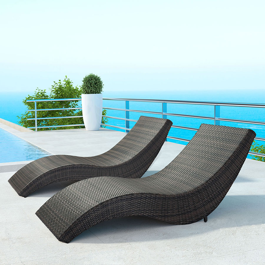 Beautiful Outdoor Chaise Lounge Hanz Modern Lounges Inside Inspiration Decorating