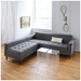 Harbord Modern Loft Bi-Sectional Sofa by Gus Modern in Totem Storm