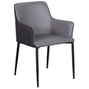 Hardy Modern Arm Chair in Dark Gray - Front View