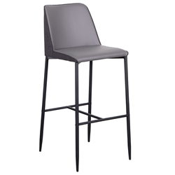Hardy Modern Bar Stools in Gray
