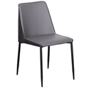 Hardy Modern Side Chair in Dark Gray - Front View