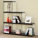 Hargrove Modern Glass Side Bookcase w/ Black Shelves