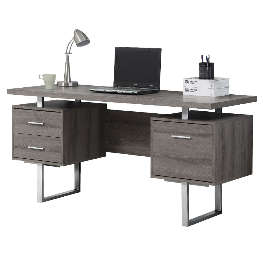 Modern Office Desk ~ Modern desks harley gray washed desk eurway
