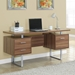 Harley Contemporary Walnut Desk with Storage Pedestals