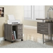 Harley Contemporary Dark Taupe Mobile Storage Cabinet