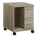 Harley Modern Natural Mobile Storage Cabinet