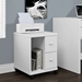 Harley Contemporary White Mobile Storage Cabinet