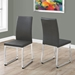 Harlow Gray Faux Leather Dining Chair