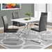 Harlow Modern Gray Dining Chairs + Phoenix Table