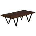 Harper Modern Walnut Cocktail Table by Saloom