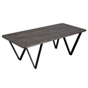 Harper Modern Etched Nantucket Finish Cocktail Table by Saloom