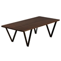 Harper Modern Etched Walnut Cocktail Table by Saloom